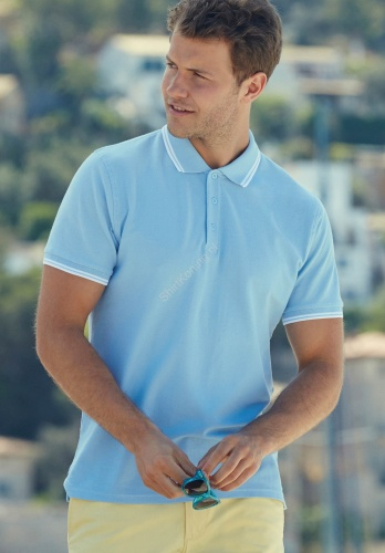 Herenmodel Polo tipped (SC63032) - fruit of the loom sc63032